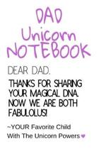 Dad Unicorn Notebook