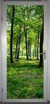 Deurposter 'Zomerbos 1' - deursticker 75x195 cm