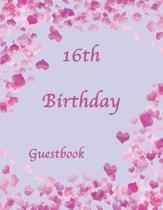 16th Birthday Guestbook
