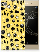 Sony Xperia XA1 Plus Uniek TPU Hoesje Punk Yellow