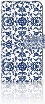 Huawei Mate 10 Lite Uniek Boekhoesje Flower Blue