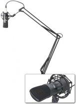 Power Dynamics studio microfoonset met profesionele condensatormicrofoon en een broadcasti