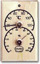 Houten Sauna thermometer en hygrometer
