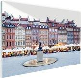 Oude Stad Warschau Glas 180x120 cm - Foto print op Glas (Plexiglas wanddecoratie) XXL / Groot formaat!