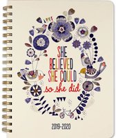 2020 She Believed She Could Mom's Weekly Planner (18-Month Family Calendar)
