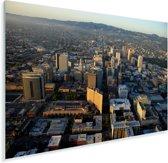 Luchtfoto van het Noord-Amerikaanse Oakland Plexiglas 180x120 cm - Foto print op Glas (Plexiglas wanddecoratie) XXL / Groot formaat!