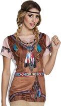 3 stuks: Fotorealistisch shirt - Indiaan squaw - Small