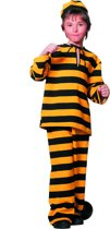 Carnavalskleding Western boef dalton geel - zwart kind Maat 164