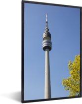 Foto in lijst - De televisietoren van Dortmund in Duitsland fotolijst zwart 40x60 cm - Poster in lijst (Wanddecoratie woonkamer / slaapkamer)