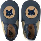 Bobux babyslofjes navy beige fox loafer - maat 22