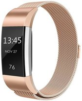 HIPFIT Milanees bandje - Fitbit Charge 2 - Champagne Goud - Small