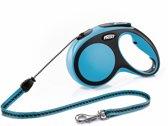 Flexi New Comfort - Hondenriem - Koordlijn - Blauw - M - 5M
