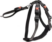 Safety harness black, artificial leather size m, 40-60cm