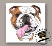 Tegel Hond Bulldog