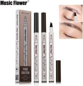 Microblading Eyebrow Tattoo Pen Waterproof Tattoo Wenkbrauw Pen Zwart