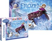 Frozen Glitter Puzzel - 104 Stukjes