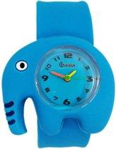 Fako® - Kinderhorloge - Slap On - Olifant - Blauw