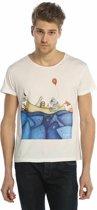 Biggdesign Allright Man Cycling Collar T-shirt   Patroon met vis   Speciaal kunstenaarontwerp   T-shirt met print   Korte mouw   Heren T-shirt   Zachte katoenen stof   Vrijetijdskleding   Casual T-shirt   Groot formaat
