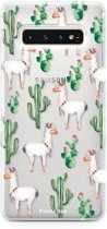 FOONCASE Samsung Galaxy S10 hoesje TPU Soft Case - Back Cover - Alpaca / Lama