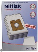 Nilfisk stofzuiger: stofzuigerzak Coupe & Go - 5 stuks + microfilter