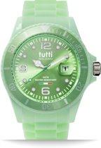 Tutti Milano TM002MG- Horloge -  42.5 mm - Groen - Collectie Pigmento