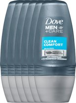 Dove Men+Care Clean Comfort - 6 x 50 ml - Deodorant Roller - Voordeelverpakking