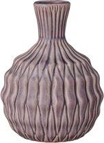 Bloomingville Structuur - Vaas - Oudroze - h20 cm - Keramiek