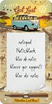 VW Let's Get Lost, notitieblok, magnetisch, metaal