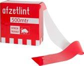 Extreem sterk Rood/wit afzetlint 75mm x 500mtr, in dispenserdoos