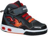 Geox - J 8447 C  - Lage sneakers - Jongens - Maat 34 - Zwart;Zwarte - C0048 -Black/Red