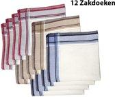 Zakdoeken - Heren - 12 zakdoeken - cadeauset - heren zakdoeken - 10