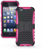 GadgetBay Shockproof roze iPod Touch 5 6 hoesje standaard case cover