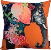 Elephant - Olifant Kussenhoes | Katoen/Linnen | 45 x 45 cm