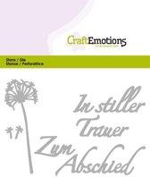 CraftEmotions Mal Tekst - In stiller Trauer Duits  Card 11x9cm