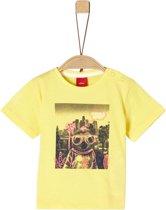 S Oliver Jongens T-Shirt - groen - Maat 74