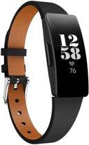 KELERINO. Leren band voor Fitbit Inspire (HR) - Zwart