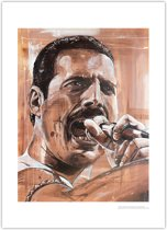 Freddie Mercury art print (50x70cm)