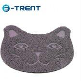 E-Trent – Grijze Kattenbak mat voor Grit - Gritmatje – 30 x 40 CM - Waterdichte Kattenmat - Kattenmat voor thuis - Grit Opvanger - Katten Mat met Filter voor Grit - Katten matje - Kat accessoires - Katten accessoires - Kat benodigdheden - Mat voor bi