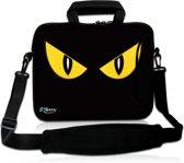 Laptoptas 17,3 inch gele ogen - Sleevy