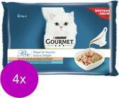 Gourmet Perle Sauce Delight - Kattenvoer - 4 x Zalm 4x85 g