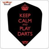 Bull's Powerflites Keep Calm and Play Darts  Set à 3 stuks
