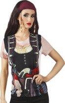 3 stuks: Fotorealistisch Shirt - Piraat meisje - Small