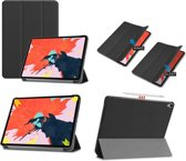 Smart Cover Book Case Hoes Voor Apple iPad Pro 12.9 Inch 2018/2019  Tri-Fold Multi-Stand Flip Sleeve - Zwart