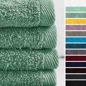Lumaland - Handdoeken - 4 delige handdoekenset - 100% katoen - 50x100cm - Meergroen