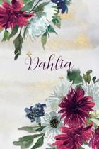 Dahlia: Personalized Journal Gift Idea for Women (Burgundy and White Mums)