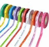 MixMamas Bonfim Lint Rol 43 m - Mulitpack 36 stuks - Roze, Oranje, Geel, Lichtroze, Paars, Rood