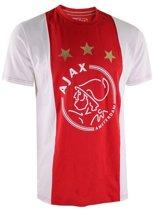 T-shirt Ajax Rood Wit Sterren - Maat L - Rood