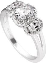 Diamonfire zilveren ring met steen - Maat 16.5 - Zirkonia