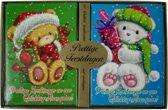Kerstkaarten met nieuwjaars wens beren (5x10) 50 kaarten