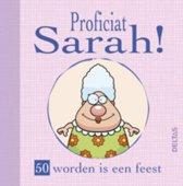 Proficiat Sarah!